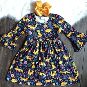 Other - Toddler Girl Boutique Fox Dress Set